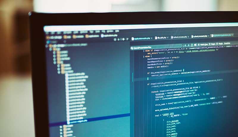 Una pantalla de computadora mostrando código PHP